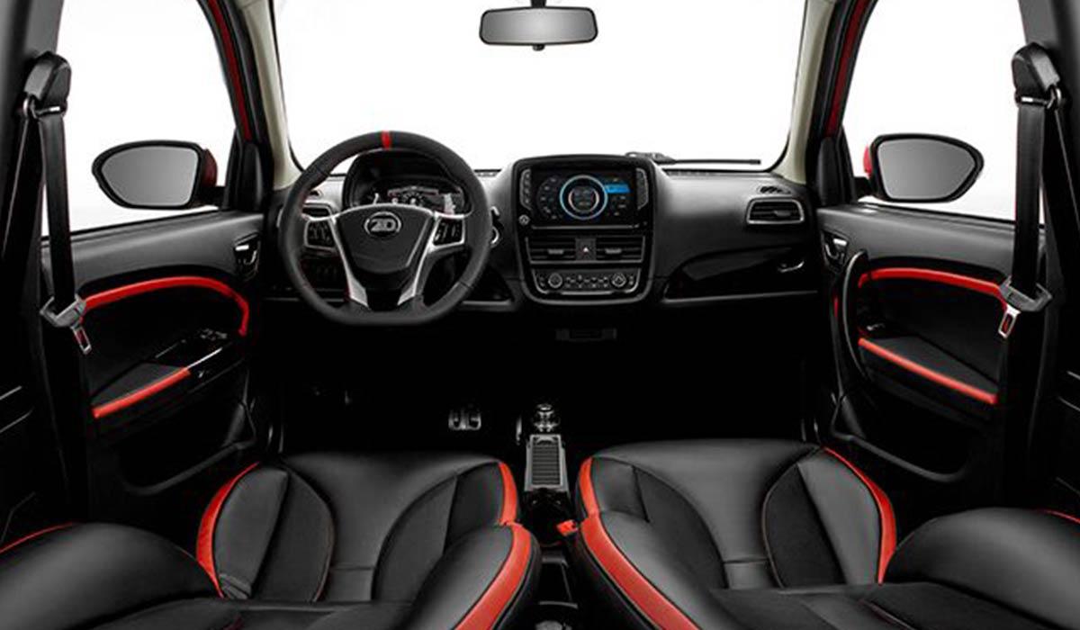 interior de ZhiDou d2s coche eléctrico